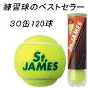 ダンロップ(DUNLOP) テニスボール セントジェームス(St.JAMES) 1箱30缶120球入(DSTJAMESN4DOZ)
