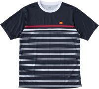 ellesse(エレッセ) (メンズ・ボーイズ テニスウェア) ショートスリーブチームクルー テニス Tシャツ ETS0811-NBの画像