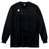 DESCENT(デサント)V首長袖ゲームシャツ(ユニセックス) DSS−4311 [ DSS4311-BLK ] ブラックの画像