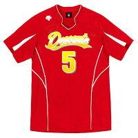 15SS Newモデル!DESCENT(デサント)半袖ゲームシャツ(ユニセックス) DSS-4822 [ DSS4822-RED ] レッド【RCP】 【送料無料】の画像