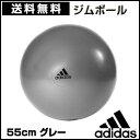 アディダス(adidas) ジムボール 55cm グレー フ...