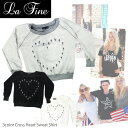 【並行輸入品】【LA FINE-ラファイン】Cross Heart Sweat Shirt