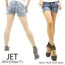 "【JET(John Eshaya T's)ジェット】shorts ""BLUE STUD""jeans ジェット"