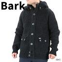 【並行輸入品】『BARK-バーク-』ニットカーディガン ニットジャケット メンズ ウール アウター コート グレー ネイビー ブラック〔8045〕