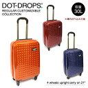 【Dot Drops-ドットドロップス-】スーツケース 30L ステッカー付[12124PC][機内持込み可・TSAロック・専用シール付き]【同梱不可・返品交換不可】