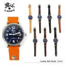 【予約】【送料無料】【IL BISONTE-イルビゾンテ-】Leather Belt Watch-レザーベルト腕時計- [紺文字盤][H0503][メンズ・腕時...