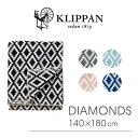 【送料無料】『KLIPPAN-クリッパン-』DIAMONDS Chenille Blankets140×180cm[ ブランケット ダイアモンド オーガニックコットン 毛布 ひざ掛け スウェーデン 北欧]