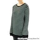 【予約】T by Alexander Wang ティーバイアレキサンダーワン Stripe Rayon Linen Long Sleeve Tee[400314R14][Tシャツ・カットソー・..