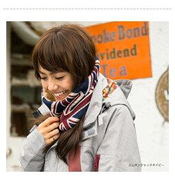 nakota(ナコタ)ユニオンジャックマイクロボアネックウォーマースヌードマフラー冬小物には暖かさと特別感が大事。ファッション小物メンズレディース冬ボタン防寒具フリース
