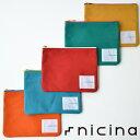 nicina (ニシナ) ポーチ Mサイズ 小物入れ キャンバス 帆布 日本製 魅せる収納でカラフルな毎日を オールハンドメイド 真鍮 バックインバック インナーポケット メンズ レディース