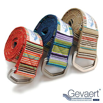 Gevaert GEVAERT ring belt-Belgium belt multi-border-belts mens Japan made wider more fashionable range of fun color scheme every day.