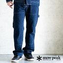 snow peak スノーピーク Indigo TAKIBI Pants ペインターパンツ デニム ボトムス 防寒 メンズ アウトドア 日本製 キャンプ 焚火