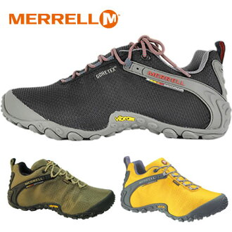 "Footwear with breathable release MERRELL? s ladies."",""10% off""(Merrell) CHAMELEON 2 STORM GORE-TEX XCR Chameleon 2 ストームゴアテックス black olive yellow waterproof and Mouret. Shoes outdoors sneakers climbing shop"