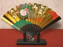 日本の伝統美金箔地飾り扇子(小)花車