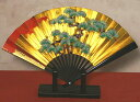 日本の伝統美金箔地飾り扇子(小)松