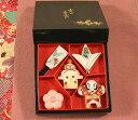 箸置き 京のお正月  羽子板 福羽根 やっこ凧 梅 鏡餅 5個セット