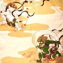 楽天京都 洛〜伝統となごみの和雑貨チーフ隅田川風神雷神【メール便対応商品】包む ふろしき 飾る インテリア タペストリー 風神雷神 高山寺 和風 プレゼント 外国向け【楽ギフ_包装選択】02P11Apr15