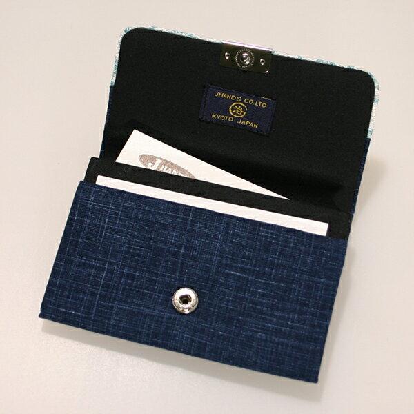 マチ付名刺カードケースブルー名刺入れ カード入...の紹介画像3