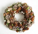 [Fairy] Glitter lease / pinecone / Christmas wreath L/ size