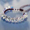 楽天Shop L'Allureスワロフスキークリスタル使用/swarovski crystal/オシャレブレスレット/カラーフルクリスタルブレスレット/プレゼント/自分へのご褒美に