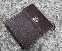 財布 メンズ 二つ折り かぶせ付 サイフ<ラマーレ・リベージュ>オリジナル 本革 メンズ財布 Men's 二つ折り財布