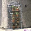 グリーンライフ ビニール温室 4段 BO-004Y 【グリーン】