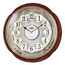 リズム 電波掛時計 からくり時計 スモールワールドコンベルS...