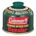 【在庫処分】【数量限定】Coleman コールマン T.Butane Fuel 純正LPガス燃料【Tタイプ】230g 5103A230T