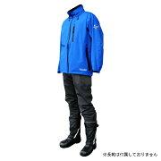 COVER WORK(カヴァーワーク) レインウェア ストレッチ 4Lサイズ ブルー アクロスレイン 雨具 上下 AG-8000