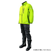 COVER WORK(カヴァーワーク) レインウェア ストレッチ Lサイズ ライムグリーン アクロスレイン 雨具 上下 AG-8000