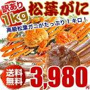松葉ガニ(カニ 蟹 かに)1キロ 訳あり わけあり(松葉ガニ...