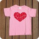 (オーシャンズラブ)OCEAN'S LOVE 【キッズ】Hert ロゴ キッズ Tシャツ ピンクsize:90cm・110cm・130cm