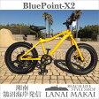 "【BLUEPOINT】""X2-FATBIKE-YELLOW""湘南鵠沼海岸発信 20インチファットバイク《BLUEPOINT-X2-YELLOW》COLOR:イエロー×ブラックリムファットバイク ミニベロ BMX 極太05P07Feb16"