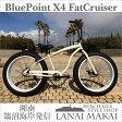 "【BLUEPOINT】""X4-BeachCruiser-FATBIKE""color:ホワイト湘南鵠沼海岸発信 26インチビーチクルーザーファットバイクファットバイク ビーチクルーザー 極太"