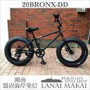 """【MODEL】""""BRONX 20nch FAT-BIKES-DD""""""""変速付き20inchミニベロファットバイク""""COLOR:マットブラック×ブラックリム""""湘南鵠..."""