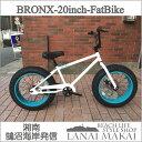 "【MODEL】""BRONX 20nch FAT-BIKES""""湘南鵠沼海岸発信""20inchファットバイク《RAINBOW BRONX 20inchFAT-BIKES》COLOR:ホワイト×ターコイズリム自転車 ファットバイク メンズ レディース 20インチ レインボー BRONX"