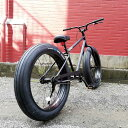 "【MODEL】""BRONX FAT-BIKES""""湘南鵠沼海岸発信""《RAINBOW BRONX FAT-BIKES》COLOR:マットブラック×ブラックリム自転車 ファットバイク メンズ レディース 26インチ レインボー BRONX"