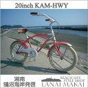 "【MODEL】レインボー""20KAM-HWY""""湘南鵠沼海岸発信""《RAINBOW BEACH CRUISER ""20KAM-HWY""》COLOR:Creamypink×white自転車 ビーチクル.."