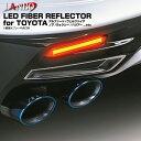 LANBO LEDファイバーリフレクター ポジションやブレーキ点灯時に連動する2WAY方式 トヨタ汎用 30系アルファード ヴェルファイア 20系アルファード ヴェルファイア 60系ハリアー