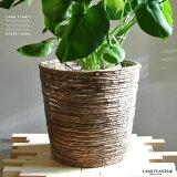【鉢カバー】 シンプルデザインのナチュラルブラウン 丸型鉢カバー 10号サイズ