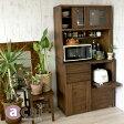 無垢材を使ったオシャレなキッチンボード アジアン家具 食器棚 収納 @CBi アクビィ アジアン チーク アンティーク 無垢 木製 ACK719KA 幅90