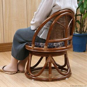 【送料無料・翌日出荷】籐家具:持ち運びらくらく♪コンパクトタイプ籐回転座椅子リラックス椅子(イス・チェア)籐製(ラタン)回転チェアC402HR【広告掲載店舗☆0108モダンリビング】