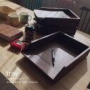 【あす楽】アジアン チーク材 無垢 木製 トレイ R032KA ファイルフォルダ 書類ケース レターケース 書類トレー ペーパートレイ アジアン 雑貨 チーク材 バリ 無垢 ナチュラル 塩系 ヴィンテージ