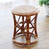 スツール 椅子 チェア 籐 ラタン 木製 おしゃれ コンパクト クッション 和風 アジアン ナチュラル ジャパニーズ インテリア 浴室 玄関 C405HR CT17