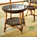 籐家具 : 手作り名品網代編みが美しいガラスサイドテーブル ...