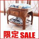 【SALE】8999→7999円!!日本の家屋にぴったり馴染む昔ながらのレトロでクラシックな籐製スツールチェア。2015年新商品