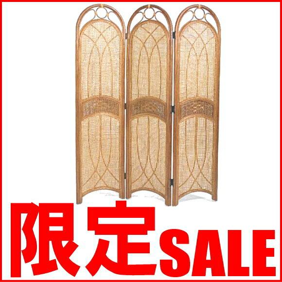 【あす楽】ラタンスクリーンパーティション 3連 アジアン 和風 雑貨 日本 S700HR CT17