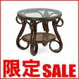 【あす楽】籐家具 ラタンガラス T210CB テーブル ガラステーブル アジアン家具 アジアン 家具 ガラス コーヒー テーブル 北欧 木製 CT15