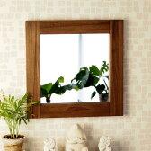 アジアン 壁掛けミラー 鏡 チーク材 M042SKA ドレッサー 可愛い アジアン家具 モダン エスニック アジアン家具 アジアンテイスト ナチュラル 木製
