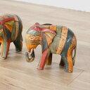アジアン雑貨 ゾウの木製オブジェ バリのアジアンインテリア ...